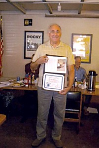EYE-DAS presented Frank Salamone with the Humanitarian Award from the Glendora Coordinating Council Committee.